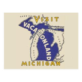 ヴィンテージ旅行-ミシガン州Vacationland ポストカード