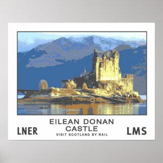 ヴィンテージ旅行、Eilean Donanの城 ポスター