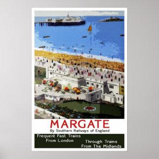 ヴィンテージ旅行、Margate ポスター