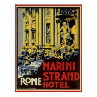 ヴィンテージ旅行、Mariniの繊維のホテル、ローマ、イタリア ポストカード