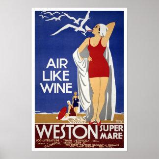 ヴィンテージ旅行、Weston極度ロバ ポスター