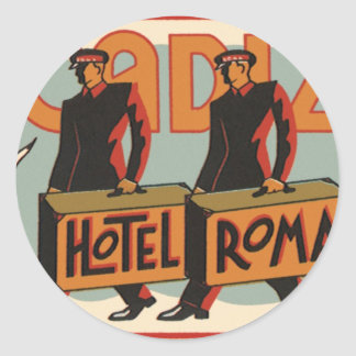 ヴィンテージ旅行Bellhopsのホテルローマ、カディス、スペイン ラウンドシール