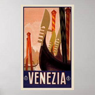 ヴィンテージ旅行Veneziaイタリアポスター ポスター
