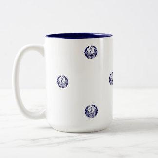 ヴィンテージ日本のなクレーンパターンマグ ツートーンマグカップ