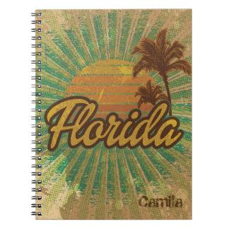 ヴィンテージ明るいフロリダのビーチのスタイルジャーナル ノートブック