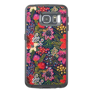 ヴィンテージ明るい花パターン生地 オッターボックスSamsung GALAXY S6 EDGEケース