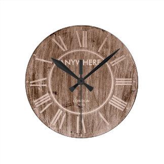 ヴィンテージ木|ロンドン1809年 ラウンド壁時計