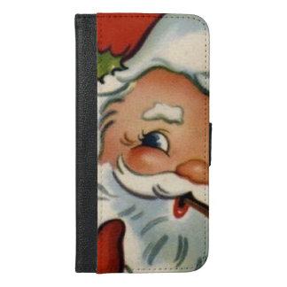 、ヴィンテージ本物、サンタクロース再生、メリーなxma iPhone 6/6s plus ウォレットケース