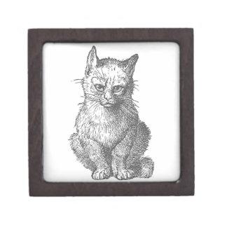 ヴィンテージ気難しい猫のデザイン ギフトボックス