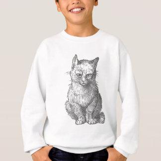 ヴィンテージ気難しい猫のデザイン スウェットシャツ