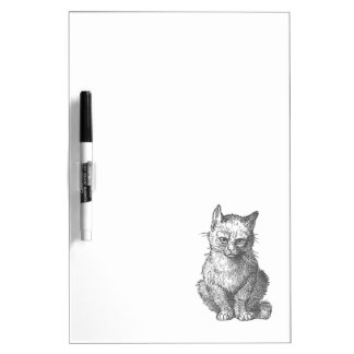ヴィンテージ気難しい猫のデザイン ホワイトボード