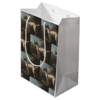 ヴィンテージ灰色によって斑点を付けられる猟犬ジョンWootton ミディアムペーパーバッグ