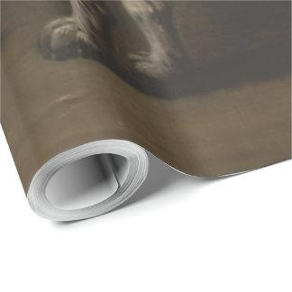 ヴィンテージ灰色によって斑点を付けられる猟犬ジョンWootton ラッピングペーパー