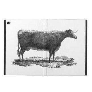 ヴィンテージ牛エッチングのタブレットの箱 POWIS iPad AIR 2 ケース