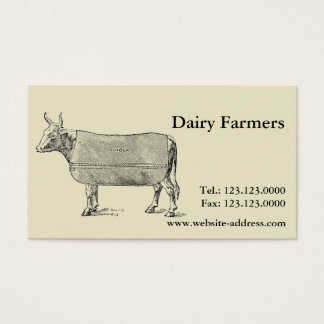 ヴィンテージ牛福祉毛布の名刺 名刺