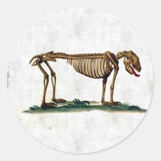 ヴィンテージ犬の骨組 ラウンドシール