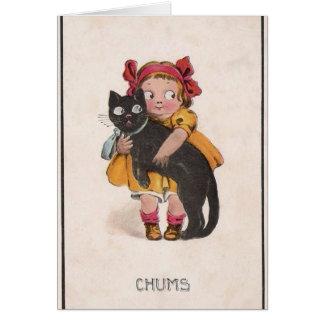 ヴィンテージ猫のメッセージカード カード