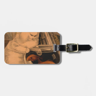 ヴィンテージ猫の金魚 ラゲッジタグ