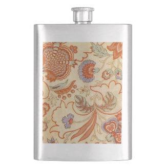 ヴィンテージ珊瑚パターン花柄のペイズリー フラスク