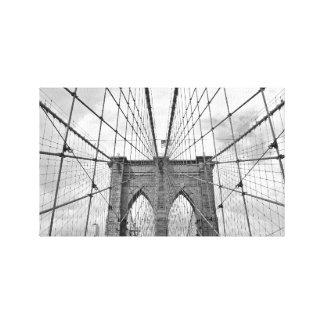ヴィンテージ白黒橋NYC壁掛け キャンバスプリント
