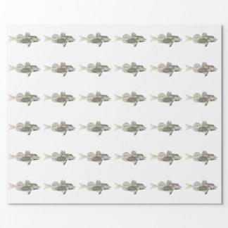 ヴィンテージ科学NZの魚-斑点を付けられたGurnard ラッピングペーパー