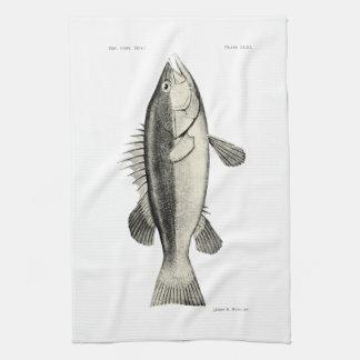 ヴィンテージ科学NZの魚- Hapuku キッチンタオル