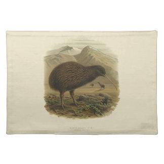 ヴィンテージ科学NZの鳥-キーウィのランチョンマット ランチョンマット