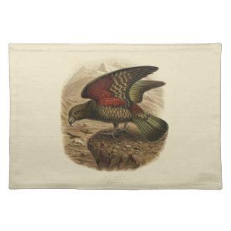 ヴィンテージ科学NZの鳥- Keaのランチョンマット ランチョンマット