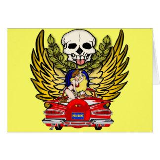 ヴィンテージ筋肉車 グリーティングカード