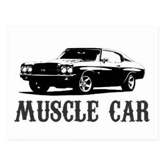 ヴィンテージ筋肉車 ポストカード