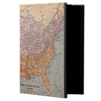 ヴィンテージ米国の内戦時代の地図1861年 iPad AIRケース