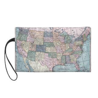 ヴィンテージ米国の地図 リストレット