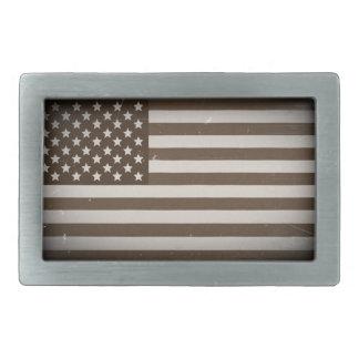 ヴィンテージ米国の旗 長方形ベルトバックル