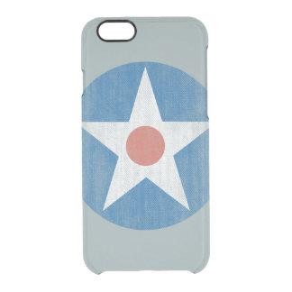 ヴィンテージ米国の航空機の星のロゴのゆとりのiPhoneの場合 クリアiPhone 6/6Sケース