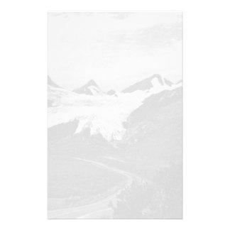 ヴィンテージ米国アラスカWorthingtonの氷河夏1970年 便箋