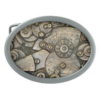 ヴィンテージ腕時計の歯車機構のベルトの留め金 卵形バックル
