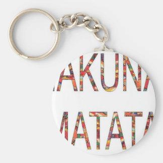 ヴィンテージ色のHakunaMatataのアフリカのギフト キーホルダー