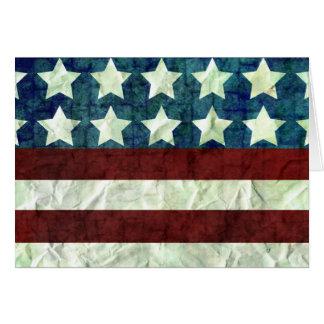 ヴィンテージ色米国の背景 カード