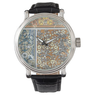 ヴィンテージ花のアールヌーボーの矢じりの花 腕時計