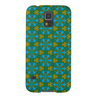 ヴィンテージ花パターン抽象芸術の幾何学的な花 GALAXY S5 ケース