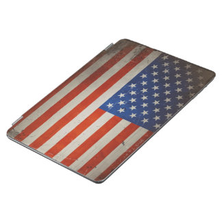 ヴィンテージ芸術的でグランジな米国の旗 iPad AIR カバー