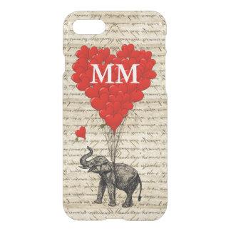 ヴィンテージ象のハート iPhone 7ケース