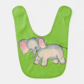 ヴィンテージ象のベビー用ビブ ベビービブ