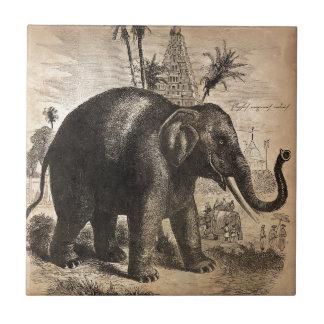 ヴィンテージ象の壁画 タイル