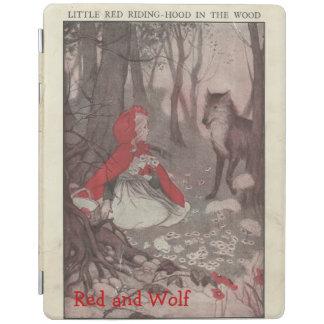 ヴィンテージ赤ずきんおよびオオカミのiPadカバー iPadスマートカバー