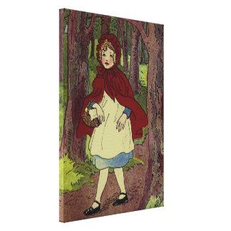 ヴィンテージ赤ずきんの本の芸術 キャンバスプリント