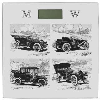 ヴィンテージ車のカスタムなモノグラムの体重計 体重計