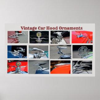 ヴィンテージ車のフードのオーナメント ポスター
