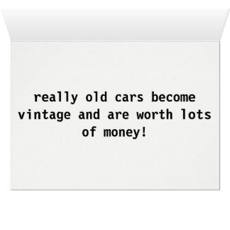 ヴィンテージ車の挨拶状 カード