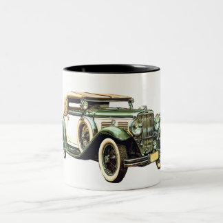 ヴィンテージ車 ツートーンマグカップ